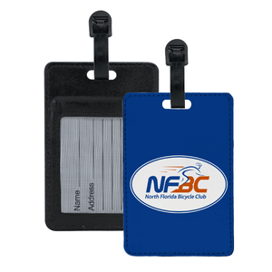 NFBC Leather Luggage Tag with Contact Card