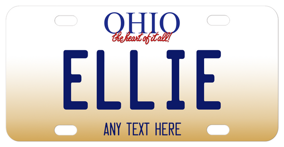 Ohio Heart of it all custom mini plates with your personalization in the center and on the bottom