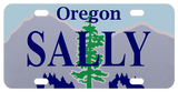 Oregon State Mini License Plate personalized with any name