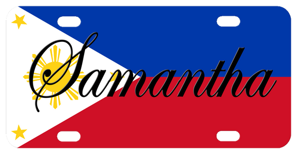 Flag of the Philippines, Filipino Flag License Plate
