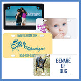 Your Photo or Digital Design on a custom license plate