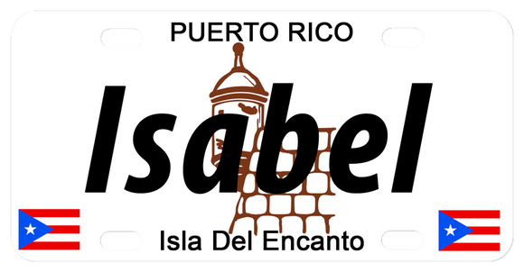 El Morro Fort Castle License Plates Personalized