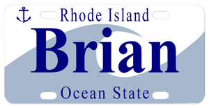 Rhode Island Wave Personalized Bike Name Plates