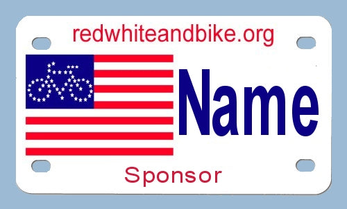 Red White and Bike 4x7-4