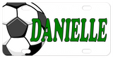 personalized soccer ball license plates and mini bike plates