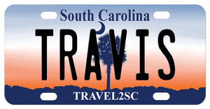 South Carolina 2008 mini license plate personalized with any name