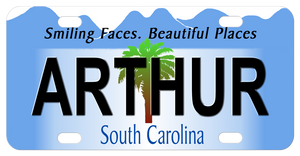 1999-2007 version of the South Carolina mini bike tag. Personalized with any name.