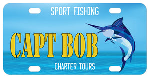 Sport Fishing Lovers Custom License Plate
