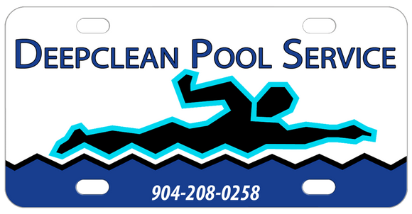 Pool Maintenance or Swimming Instructor Personalized License Plates