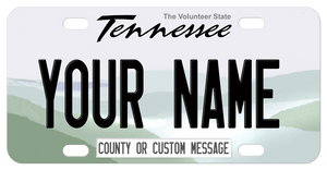 Tennessee Mountain Design Volunteer State mini replica plate with any name