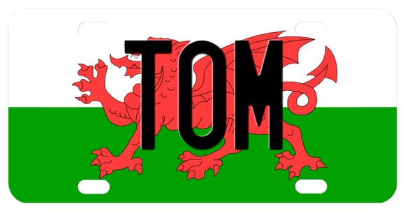 Flag of Wales Personalized Bike License Plate