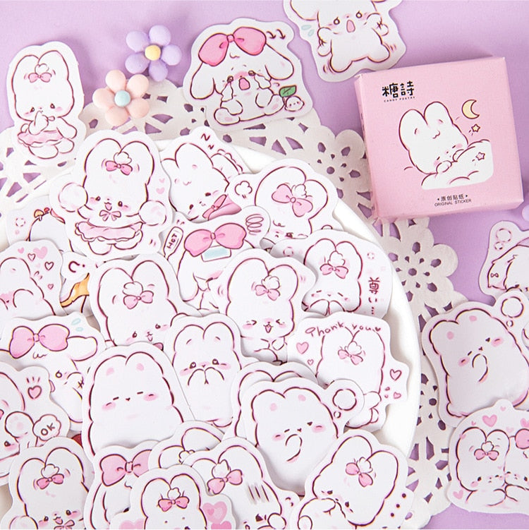 45 Pcs Kawaii Rabbit Stickers