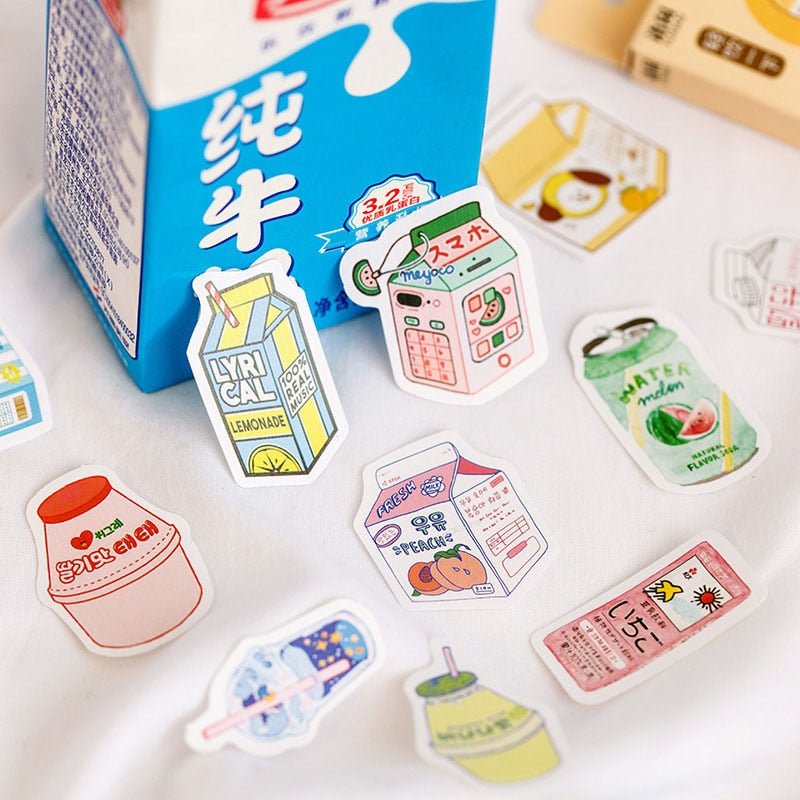 50Pcs Kawaii Drink Stickers