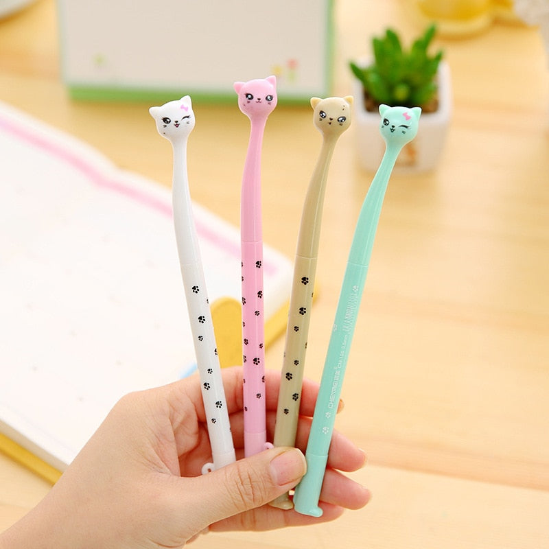 4 Pcs Japanese Neko Cat Gel Pen