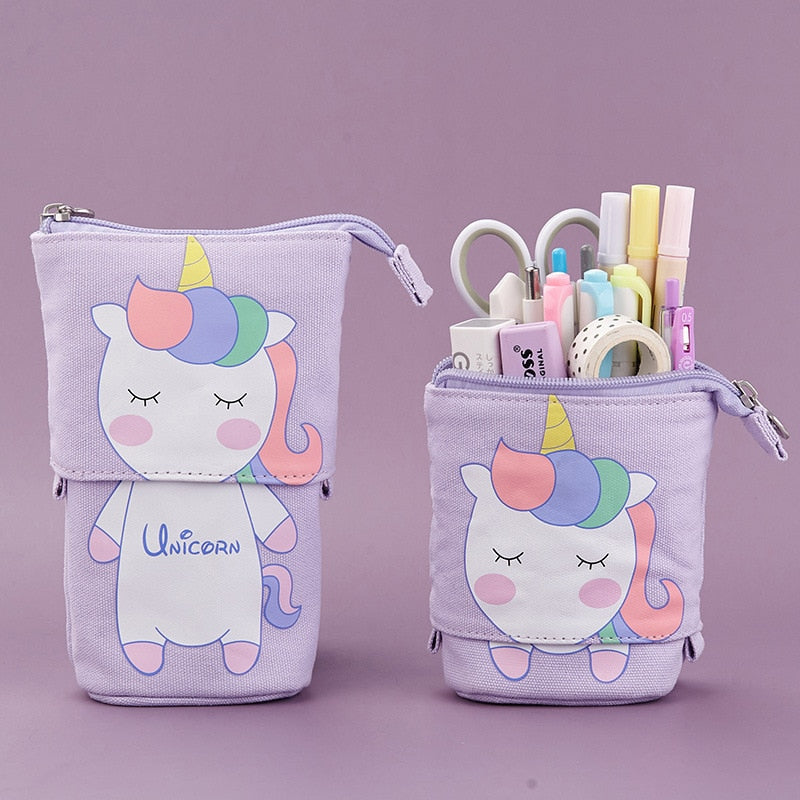 Kawaii Unicorn Sliding Pencil Case
