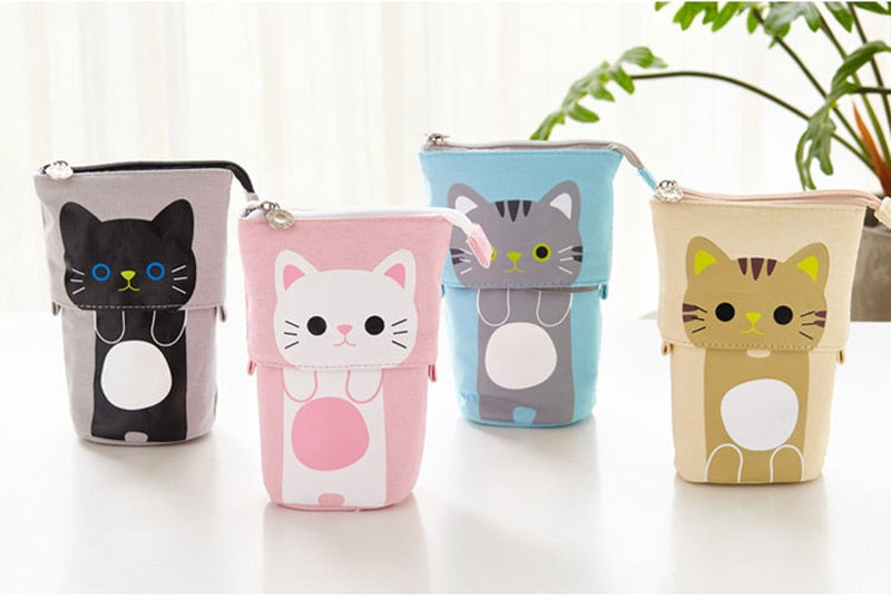 Kawaii Cat Sliding Pencil Cases