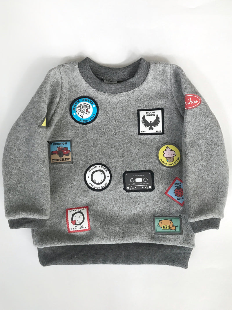 Patches Fleece Sweater