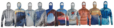 Shjop now Mountaincognito sun protective mountain graphic hoodies