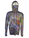 Green Brown Graphic Fishing Hoodie