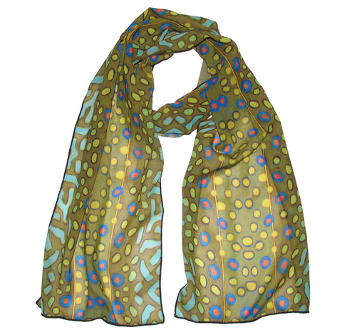 Fin-Flank Silk Brook Trout Scarf