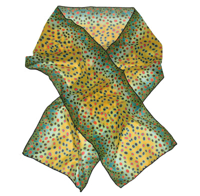 Fin-Flank Silk Brown Trout Scarf