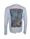 "Wear this ""Freestone"" Cutthroat Trout sun protection fishing shirt for UPF50 solar performance. Back view."