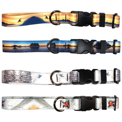 Mountaincognito Two Surfers Dog Collar