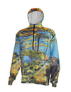 Freestone cutthroat trout  1/4-Zip FlexFleece heavyweight graphic fishing hoodie