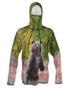 Grizzly Bear Sun Protective Wildlife Graphic Hoodie