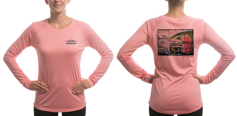 Women's Rainbow Reflection/Pink Solar Performance L/S T