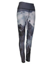 Jagged mountain peaks on a graphic yoga legging.  Great for skiing, snowboarding, base layer, winter sports.