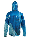 Making Tracks mountain graphic sun protective skiing clothing.