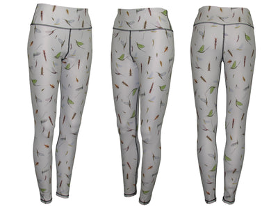 Mayfly Patterned Graphic Fish Print  Leggings