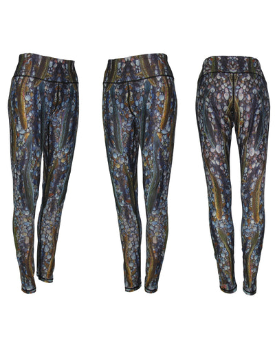 Trout Dreams All Sport Leggings river inspiration on the yoga mat, hiking, trail running, or out for a casual evening with friends