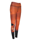 Sunset Surfer surfing and diving beach leggings offer sun protection, perfect for a day at the beach or on the ocean.