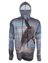 Breech Whale surfing hoodie offers sun protection with a built in face mask.  Perfect for a day at the beach or on the ocean.