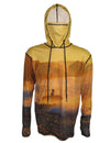 Golden Surfer surfing hoodie offers sun protection with a built in face mask.  Perfect for a day at the beach or on the ocean.