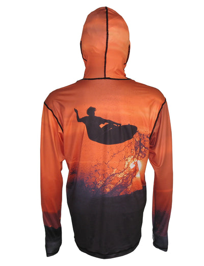 Oceancognito Sunset Surfer Lightweight Sunpro Hoodie