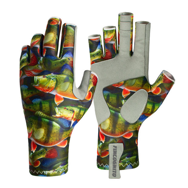 These peacock bass sun gloves offer UPF50 sun protection.  Great for fishing in the Amazon.  Along with fly fishing and spin casting, these are great for hiking, mountain biking, kayaking, and other outdoor activities.