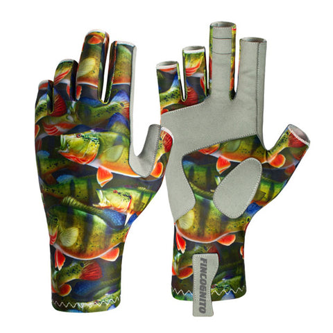 Fin-Flank Peacock Bass Sun Gloves