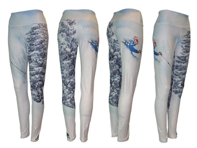 Pow Mountain Print Patterned All Sport Leggings