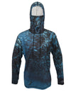 Scuba Jacks surfing and diving hoodie offers sun protection with a built in face mask.  Perfect for a day at the beach or on the ocean.