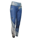 Snowboarder#2 mountain image on a graphic yoga legging. Great for climbing, skiing, snowboarding, base layer, winter sports.