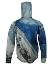 Snowboarder#2 1/4 Zip Hoodie back view mountain clothing brand offers SPF Protection from harmful UV Rays.  Enjoy the picture hoodies or just spend a day skiing.
