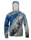 Snowboarder#2 1/4 Zip Hoodie mountain clothing brand offers SPF Protection from harmful UV Rays.  Enjoy the picture hoodies or just spend a day skiing.