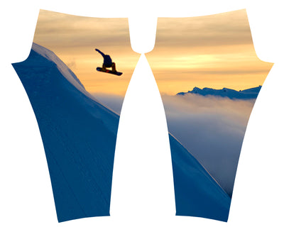 Snowboarder Leggings Yoga Pants, offer the opportunity of looking good on the slopes or as running clothes on the trail doing a good hike in casual fashion and comfort.