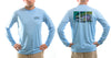 Men's Hen Rainbow/Blue Solar Performance L/S T