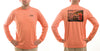 Men's Sun Protective Fishing Shirt Rainbow Reflections/Salmon