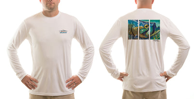Men's Tarpon Layup/White Solar Performance L/S T