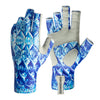 These tarpon print sun gloves offer UPF50 sun protection.  Great for salt water fishing, ocean fishing, and lake fishing.  Along with fly fishing and spin casting, these are great for hiking, mountain biking, kayaking, and other outdoor activities.